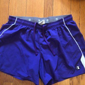 champion Authentic Men purple athletics shorts, L